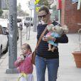 Jennifer Garner et sa fille Seraphina, se rendant à un cours de karaté, le 1er février 2013.