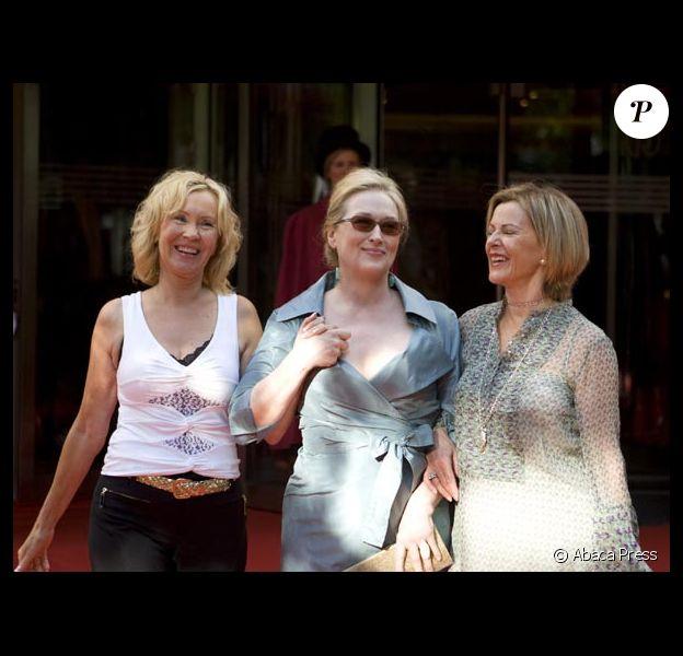 Le groupe ABBA réuni pour la première fois depuis 22 ans Meryl Streep avec Agnetha Faltskog et Annifrid Lyngstad