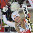 Lindsey Vonn à St. Moritz le 8 décembre 2012