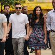Megan Fox et son mari Brian Austin Green, complices, profitent de leur escapade au Brésil en février 2013. Ils ont assisté à un spectacle de Capoeira àSão Paulo.
