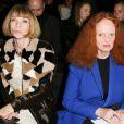Anna Wintour et Grace Coddington assistent au défilé Donna Karan New York automne-hiver 2013-2014 au Centre 547. New York, le 11 février 2013.