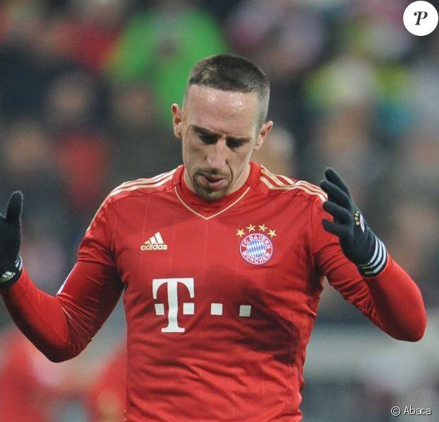 Franck Ribéry lors du match entre le Bayern Munich et le Borussia Möenchengladbach à l'Allianz Arena de Munich le 14 décembre 2012