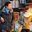 Emma Watson et son petit ami Will Adamowicz à New York, le 16 février 2013.