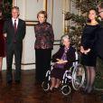 Le prince Laurent de Belgique et la princesse Claire au concert de Noël au palais royal le 19 décembre 2012