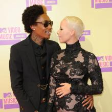 Amber Rose et Wiz Khalifa lors des MTV Video Music Awards 2012 à Los Angeles. Le 6 septembre 2012.