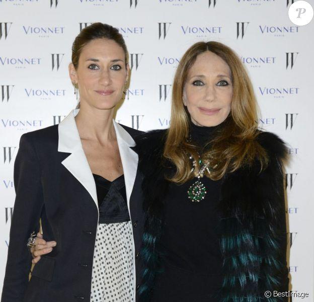Marisa Berenson et sa fille Starlite Randall Berenson lors du cocktail et du dîner Vionnet lors de la fashion week de Milan le 21 février 2013