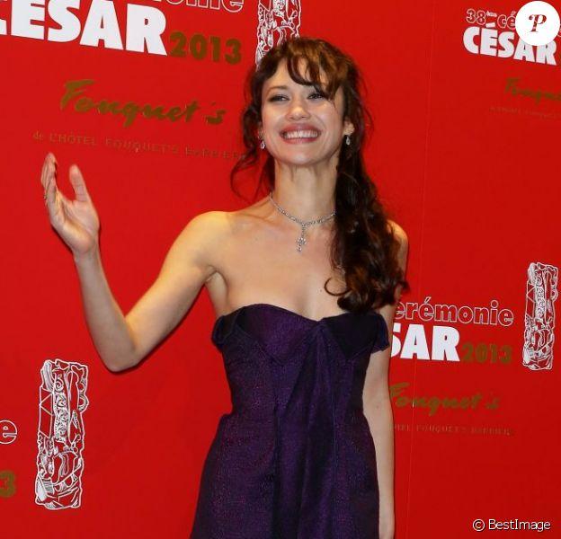 Olga Kurylenko au Fouquet's pour le Dîner de gala de la 38e Cérémonie des César à Paris, le 22 février 2013.