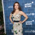 Alyssa Milano au brunch organisé par Montblanc au profit de l'Unicef, à Los Angeles, le 23 février 2013.