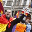 Iñaki Urdangarin, époux de l'infante Cristina d'Espagne, a eu droit à un accueil houleux lors de sa venue au tribunal de Palma de Majorque pour être entendu à nouveau par le juge José Castro dans le scandale Noos, le 23 février 2013.