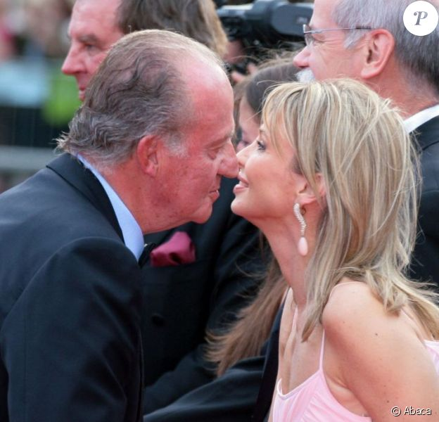 Le roi Juan Carlos Ier d'Espagne et sa tendre amie Corinna zu Sayn-Wittgenstein aux Laureus Awards en 2006 à Barcelone.