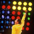 Freddie Mercury en concert, le 16 juillet 1986.