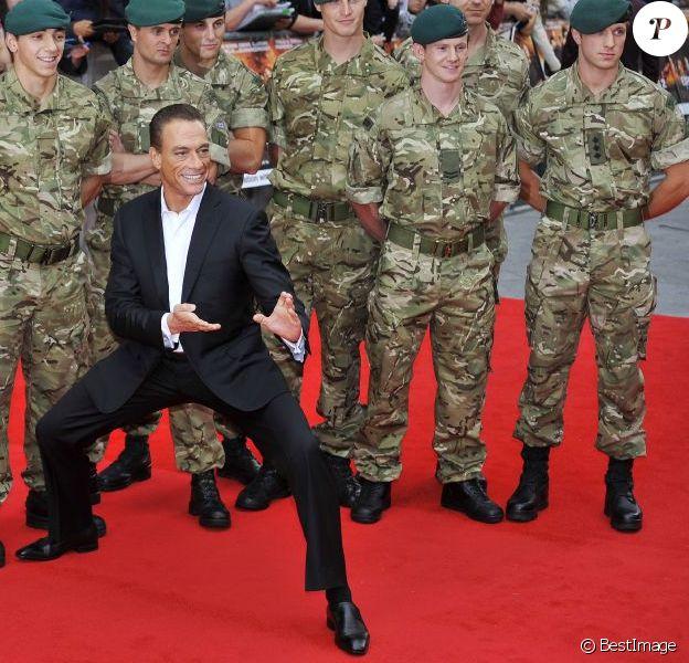 Jean-Claude Van Damme à la première du film Expendables 2, à Londres le 14 août 2012.