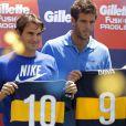 Roger Federer et Juan Martin Del Potro à Buenos Aires le 13 décembre 2012