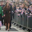 La duchesse de Cambridge, Kate Middleton en visite à Grimsby en Angleterre, le 5 mars 2013.