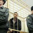 Pavel Dmitrichenko inculpé à Moscou, le 7 mars 2013, pour avoir commandité l'agression à l'acide dont a été victime Sergueï Filine.