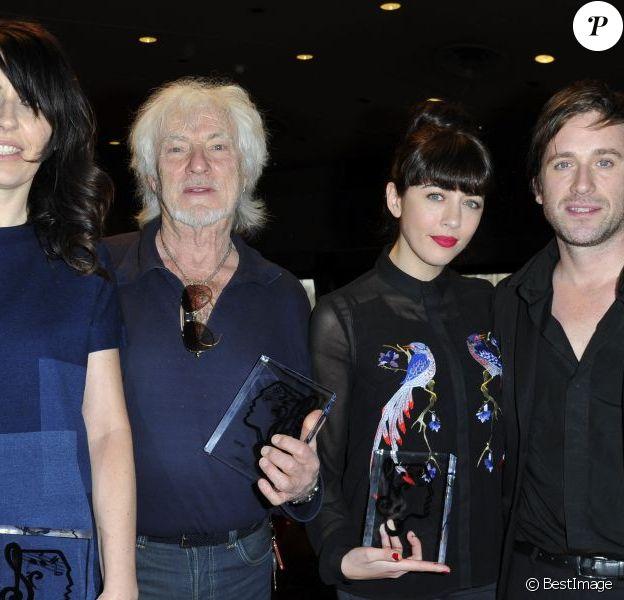 La Grande Sophie, Hugues Aufray, Nolwenn Leroy - Lauréats des Grands Prix de l'UNAC 2013 à la Sacem à Paris. Le 18 mars 2013. Thomas Dutronc était avec eux.