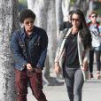 Bruno Mars et Jessica Caban vont au restaurant à Los Angeles, le 18 mars 2013.