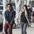 Bruno Mars et sa chérie Jessica Caban vont au restaurant à Los Angeles, le 18 mars 2013.