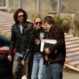 Sharon Stone et Martin Mica lors de leur arrivée au Porto Heliport afin de se rendre dans le vignoble de Quinta das Carvalhas dans la vallée du Douro, Portugal, le 21 mars 2013.