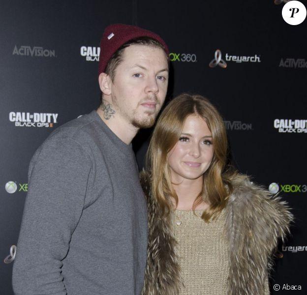 Professor Green et Millie Mackintosh lors de la soirée de lancement du jeu Call of Duty: Black Ops II le 12 novembre 2012