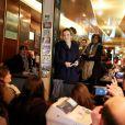 Nathalie Kosciusko-Morizet poursuit sa campagne pour les municipales de Paris. Une fois de plus, la candidate a opté pour un café politique dans le 8e arrondissement de la capitale, le 27 mars 2013.