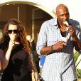 Khloe Kardashian et Lamar Odom à Los Angeles, le 6 juillet 2012.