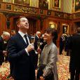 Damian Lewis et sa femme Helen McCrory  à l'occasion d'une cérémonie célébrant le cinéma britannique, au château de  Windsor  à  Londres , le 4 avril 2013.