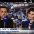 Gad Elmaleh et Audrey Tautou dans Les Incontournables de Nikos Aliagas sur Europe 1 pour parler de L'Ecume des jours en salles le 24 avril 2013.