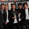 Les One Direction aux Brit Awards, à Londres, le 20 février 2013.