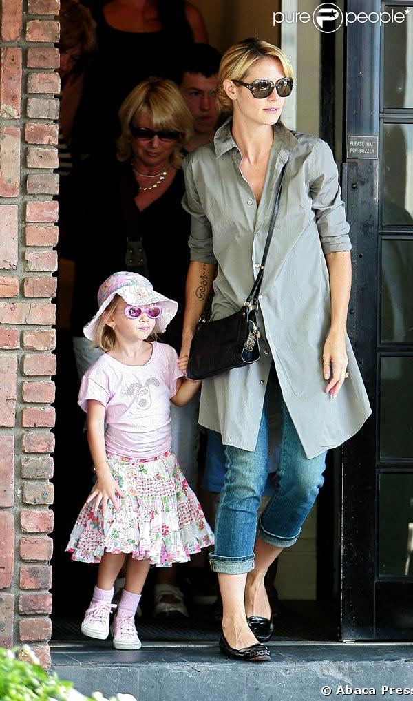 Heidi Klum et ses enfants à New York