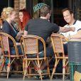Exclusif - Katherine Heigl et Patrick Wilson déjeunent en terrasse au restaurant Figaro Cafe à Los Feliz, le 15 février 2013.