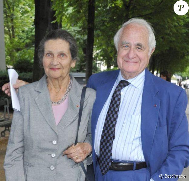 Simone Veil et son époux Antoine Veil à Paris, le 30 mai 2011.