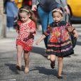 Sarah Jessica Parker, Marion et Tabitha Broderick, se promènent dans les rues de New York, le 9 avril 2013.
