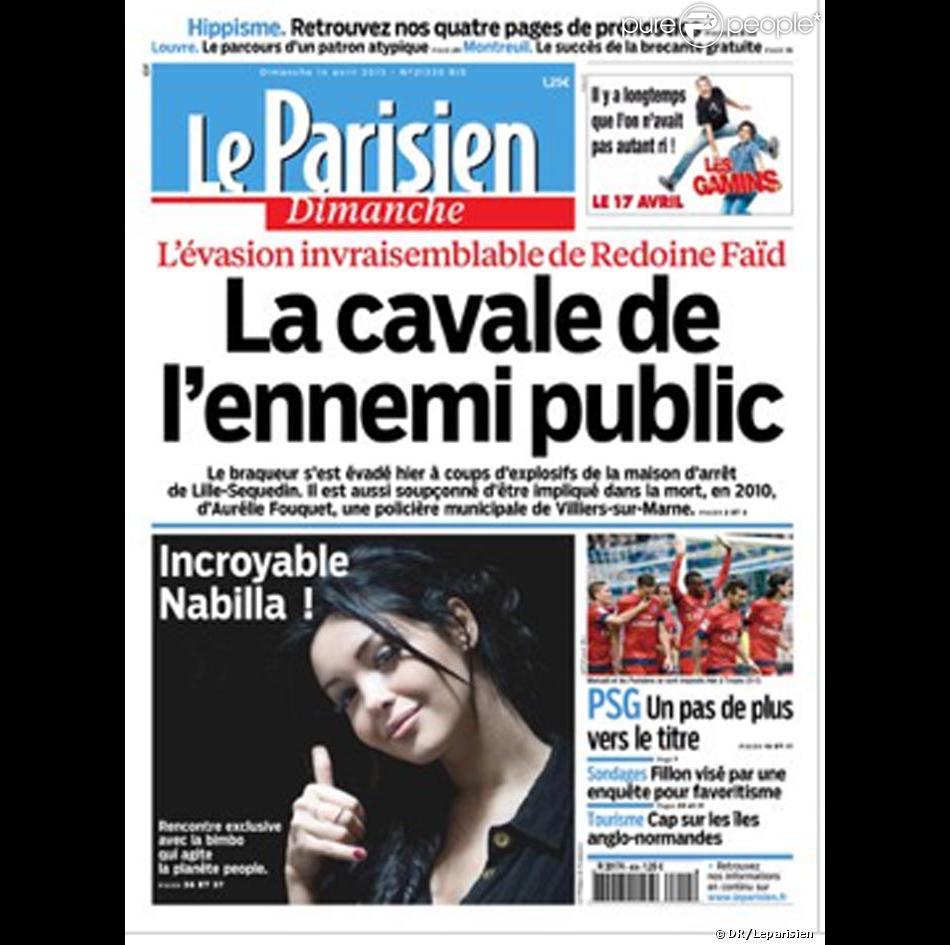 Nabilla fait la Une du Parisien !