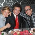 Frigide Barjot, Basile de Koch avec Karl Zéro et sa femme Daisy d'Errata à Paris le 2 décembre 2010.