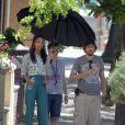 Zoe Saldana et le réalisateur Guillaume Canet sur le tournage de Blood Ties à New York le 31 mai 2012