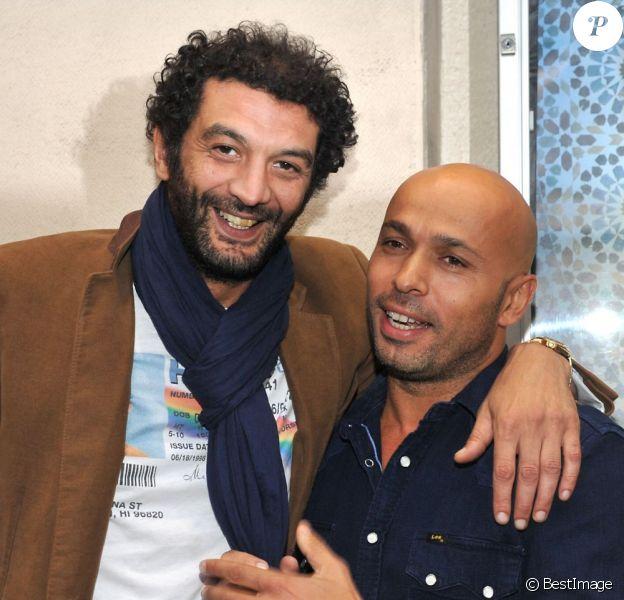 Ramzy Bedia et Eric Judor à la première du film Mohamed Dubois au Gaumont Opéra, Paris, le 16 avril 2013.