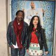 Noom (Jamel Comedy Club) et son amie à la première du film Mohamed Dubois à Paris le 16 avril 2013.