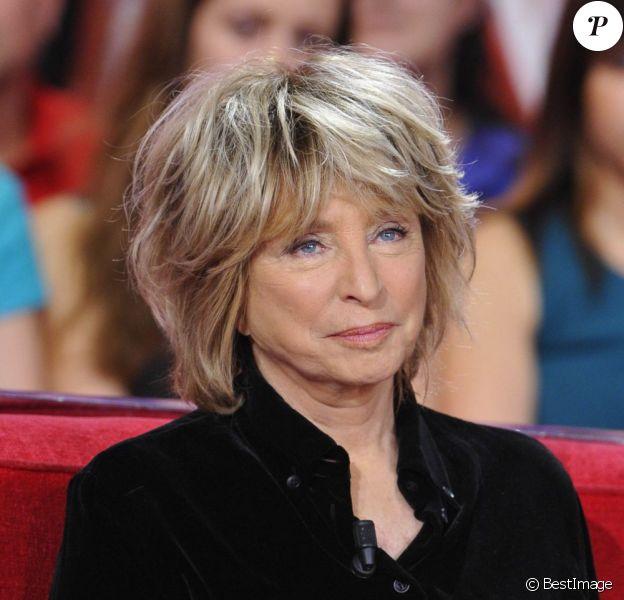 Danièle Thompson lors de l'enregistrement de l'émission Vivement dimanche le 27 mars 2013 à Paris