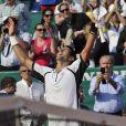 Novak Djokovic lors se son match face à Juan Monaco en huitième de finale du Masters 1000 de Monte Carlo le 18 avril 2013