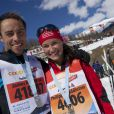 James et Pippa Middleton le 10 mars 2013 lors d'une course de cross country en Suisse