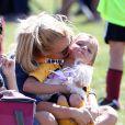 Britney Spears et son fils Jayden James lors d'un match de football à Woodland Hills, le 21 avril 2013.