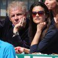 Patrick Poivre d'Arvor et son amie Caroline lors de la finale de tennis du Monte Carlo Rolex Masters 1000 à Monaco le 21 Avril 2013