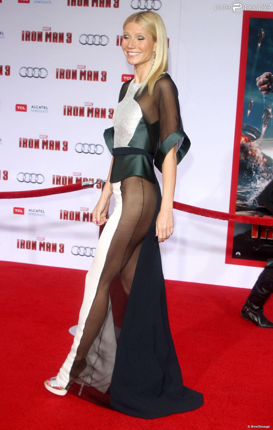 Gwyneth Paltrow lors de l avant-premi  232 re du film Iron Man 3   224  Los    Gwyneth Paltrow Dress Bush