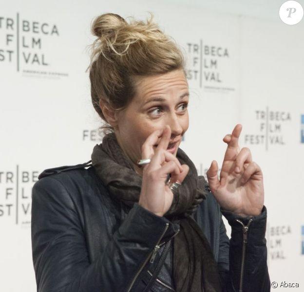 Cécile de France pose à la première de Möbius au Tribeca Film Festival de New York, le 23 avril 2013.