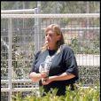 Debbie Rowe dans son ranch de Palmdale, le 9 septembre 2009.