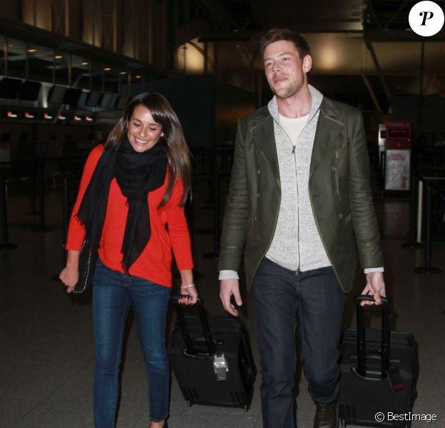 Lea Michele et Cory Monteith à l'aéroport de New York, le 6 mars 2013.