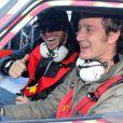 Pierre Casiraghi a participé au 16e Rallye de Monte-Carlo à Monaco, le 31 Janvier 2013.