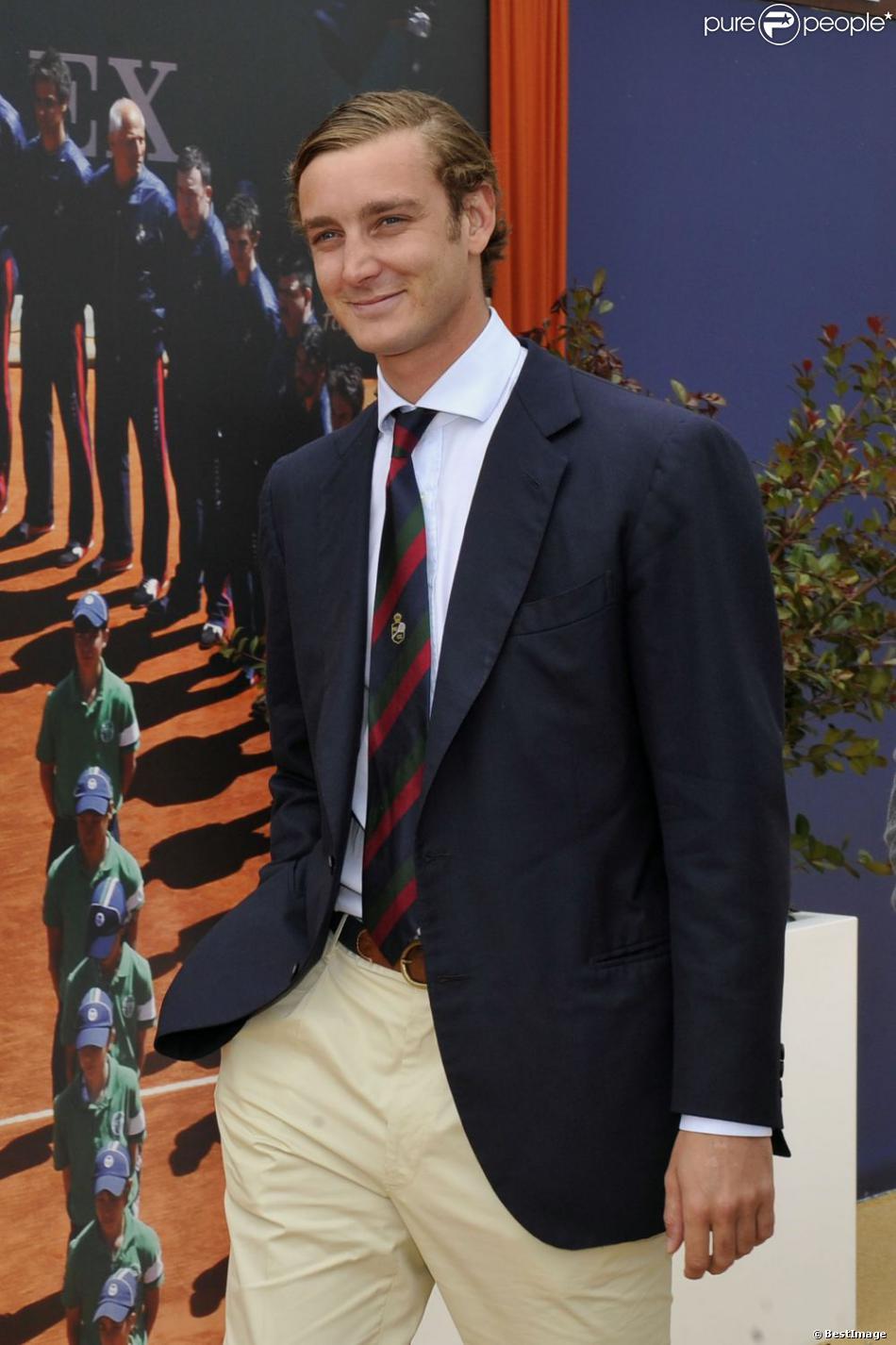 Pierre Casiraghi lors du quart de finale du Monte Carlo Rolex Masters 2013, à Roquebrune Cap Martin, le 19 Avril 2013.
