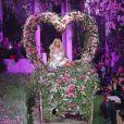 Zahia Dehar présente sa collection de lingerie haute-couture printemps-été 2013 au palais de Tokyo, à Paris le 23 janvier 2013.
